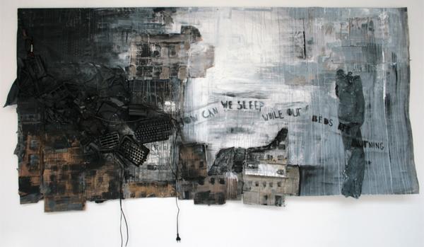 Sofie van den Wittenboer - Babel - Diverse media op karton