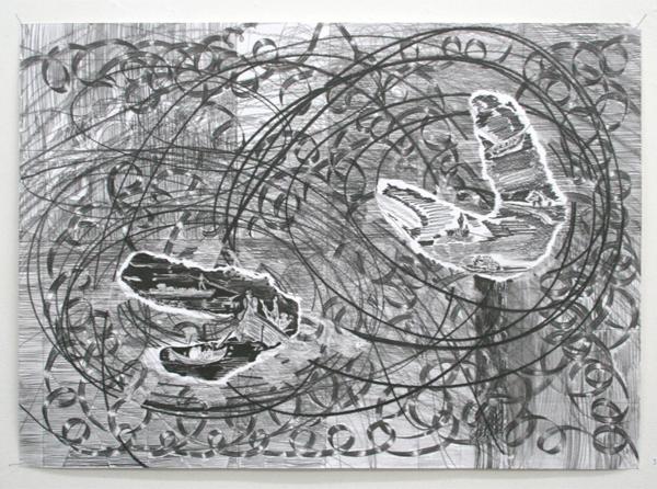 Stan Klamer - De Terugkeer - 50x70cm Potlood en aquarel
