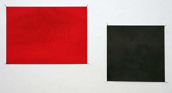 Stephan van den Burg - Good Day Sunshine - 21x30cm Ecoline en toner inkt op papier & Good Day Sunshine (Metamorphosis) - 20x20cm Ecoline en inkt op papier