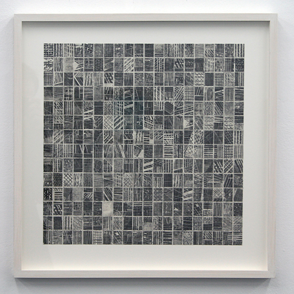 Stephan van den Burg -  Zonder Titel (flat grid 5) - 40x40cm Potlood en tape op papier