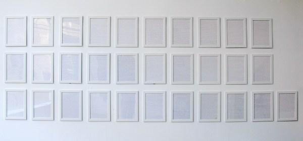 Sven Sachsalber - Write Until Tomorrow - 29x21cm 31 handgeschreven pagina's tekst met potlood