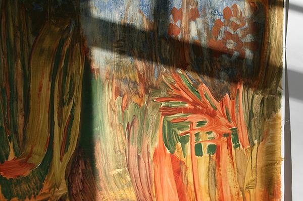 Tessa Chaplin - Zonder Titel - 200x150cm Olieverf op papier (detail)