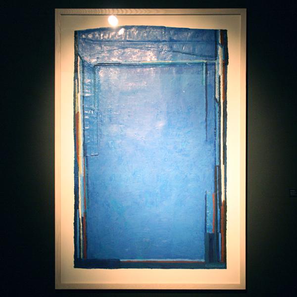Theo Kuijpers - Blue on Blue - 125x100cm Olieverf op doek
