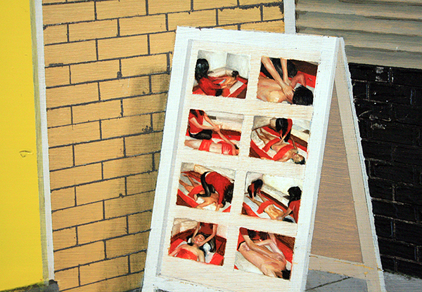 Thijs Jansen - Chuenchai's Massage - 30x25cm Olieverf en acrylverf op paneel (detail)