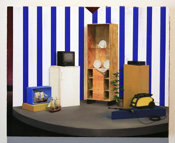 Thijs Jansen - Show - 30x40cm Olieverf en acrylverf op paneel