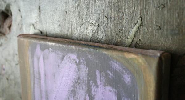Thomas Rameckers - Signeer - 23x26cm Olieverf op gips op linnen (detail)