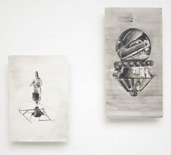 Thomas van Rijs - Untitled & Untitled - 19x13cm Acrylverf op papier
