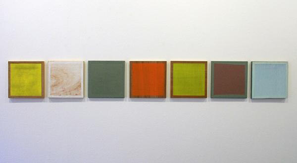 Tijl Frijns - Color Panels - Elk 30x30cm Olieverf op paneel