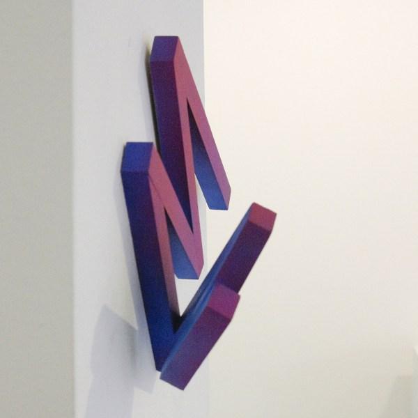 Tijl Orlando Frijns - Purple line - Acrylinkt op grenen (detail)