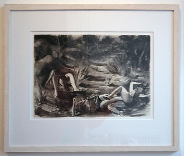 Tilo Baumgartel - Untitled - 30x42cm Houtskool op papier