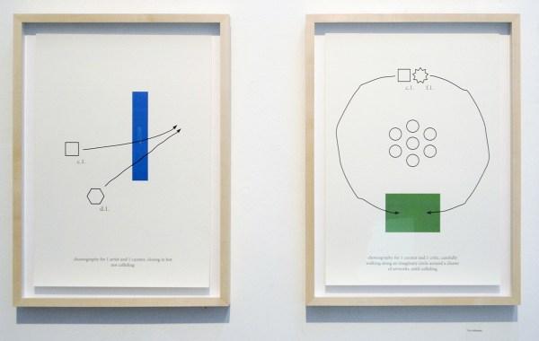 Tim Hollander - Choreography for 1 artist and 1 curator & Choreography for 1 curator and 1 critic - 54x40cm Digitale print