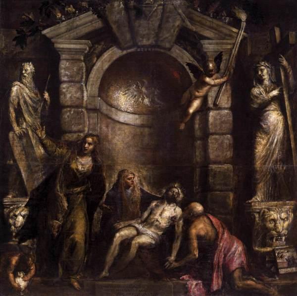 Titiaan - Pieta - 352x349cm Olieverf op doek, 1576