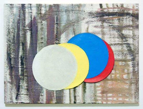 Walter Swennen - Disks - Olieverf op canvas 2006