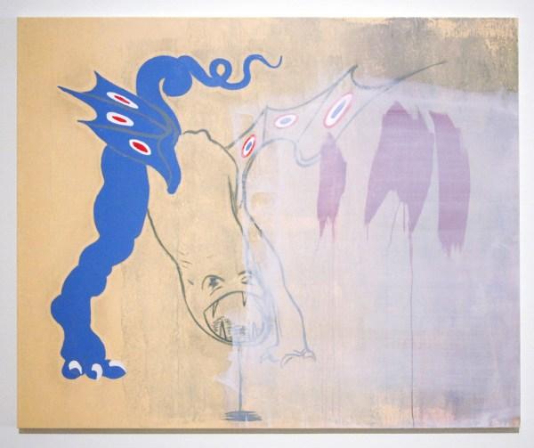 Walter Swennen - Paolo Meets Maloclm - Acrylverf op doek, 2014
