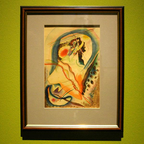 Wassily Kandinsky - Non-figuratief schilderij - Aquarel op papier 1915