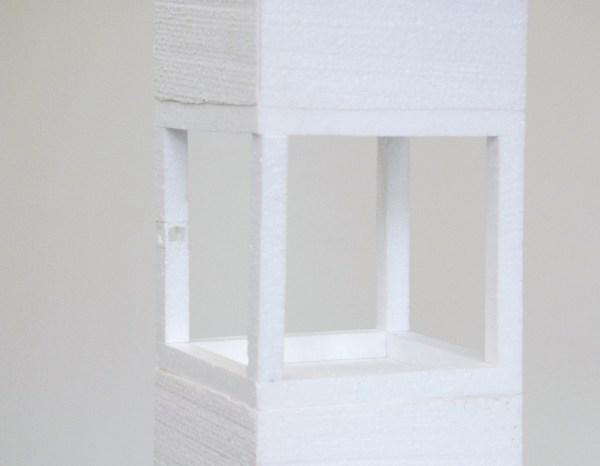 Willem Besslink - 155x10n - 155x155x155cm Piepschuim en hout (detail)