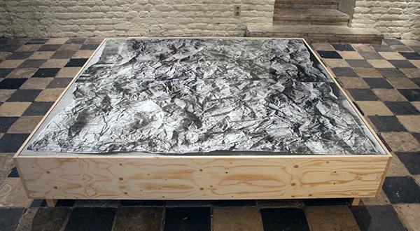 Willem Oorebeek - Zee Lande, Nuit Americaine - 200x200cm Digitale print