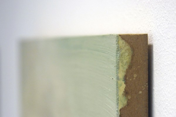 Willem Sanders - Mediated Landscape #3 - 40x40cm Olieverf op paneel (detail)