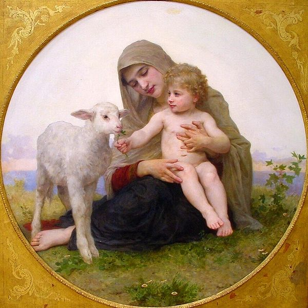 William Adolphe Bouguereau - Maagd met lam