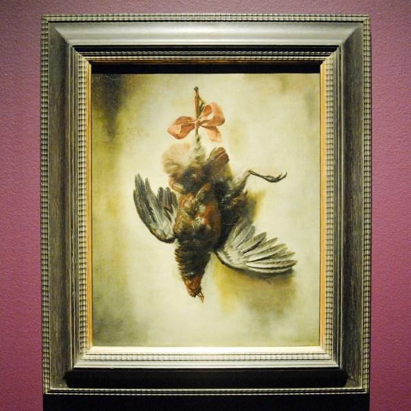 William Gowe Ferguson - Trompe l'oeil met patrijs - Olieverf op doek