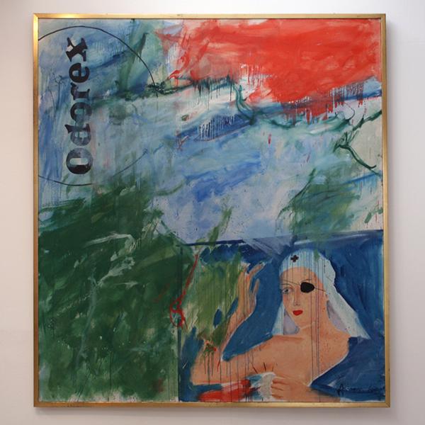 Woody van Amen - Odorex - 200x180cm Olieverf op canvas