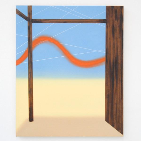 Wouter van der Laan - Happy Days #2 - 50x61cm Olieverf en acrylverf op paneel
