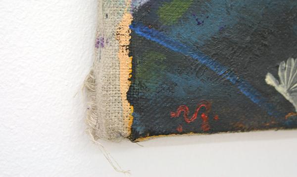 Yuri Rodekin - Agathon Peregrinus - 30x30cm Olieverf op canvas (detail)