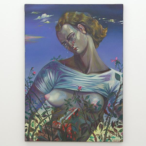 Yuri Rodekin - Playing Lucrezia - 70x50cm Olieverf op canvas