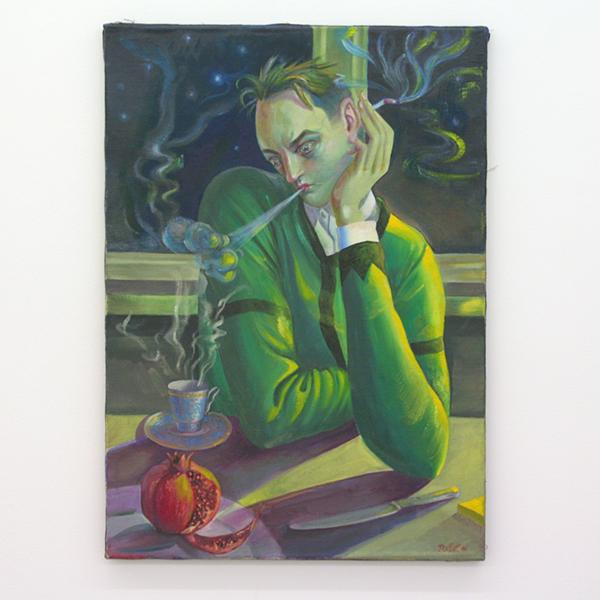 Yuri Rodekin - Sci-Fi Writer - 70x50cm Olieverf op canvas
