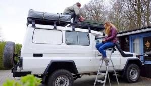 LOST TRACK Reiseblog Toyota Land Cruiser HZJ 78 Ausbau Zarges Box Solarpanel