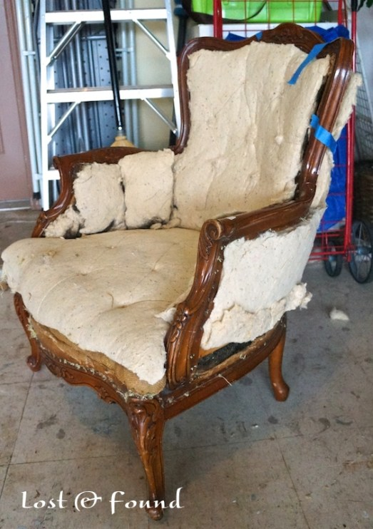 how to recover a chair with new fabric