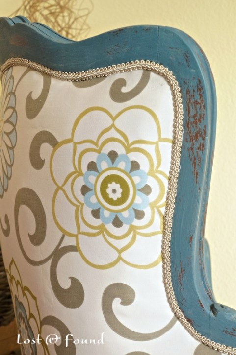 How to DIY recover a vintage french chair