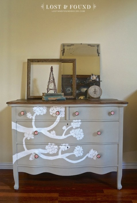oak dresser furniture makeover idea