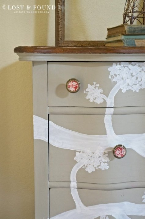 oak dresser furniture makeover