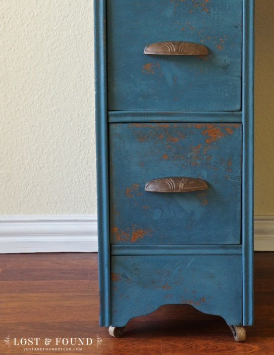 Blue Milk Paint Desk Furniture Makeover