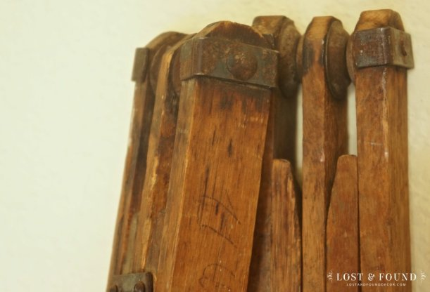 antique wallpaper table legs