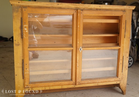 Milk Paint Cabinet Hutch Makeover
