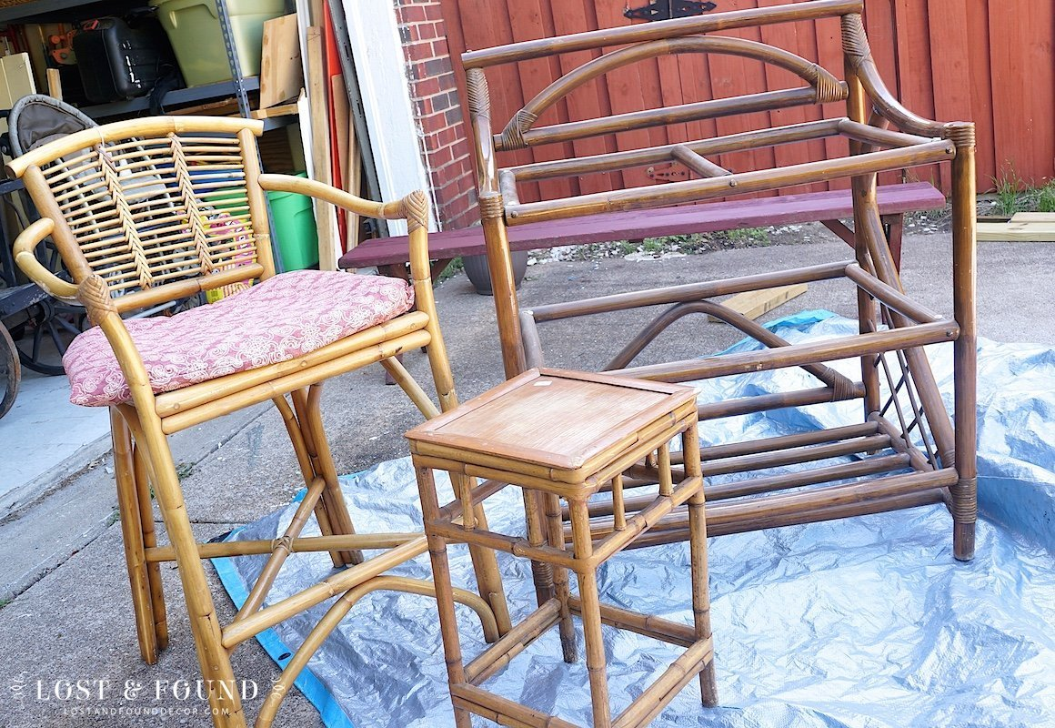 Some Of It For Sure I Will Paint, Most Likely Going The Spray Paint Route.  The Rattan Of The Chair Is In Really Good Shape Though, So I Might Leave It  As ...