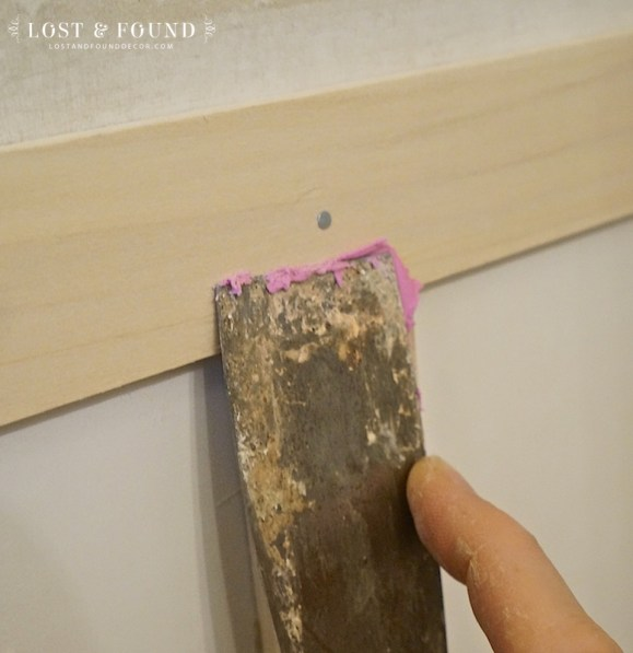 how to putty nail holes