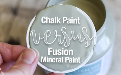 Chalk Paint vs Fusion Mineral Paint   What's the Difference?