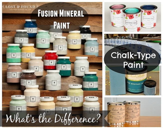 what's the difference between chalk paint and fusion mineral paint