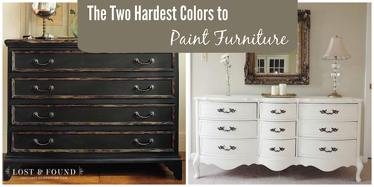 Hardest Colors To Paint Furniture