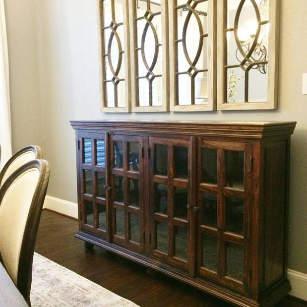 dining room buffet furniture makeover using fusion mineral paint