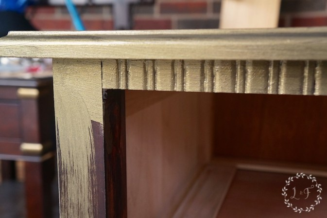 metallic paint on nightstand