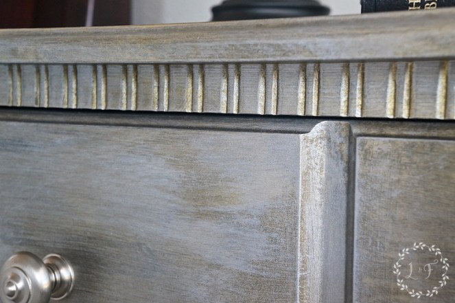 Nightstand Makeover using Fusion Studio Metallics 4