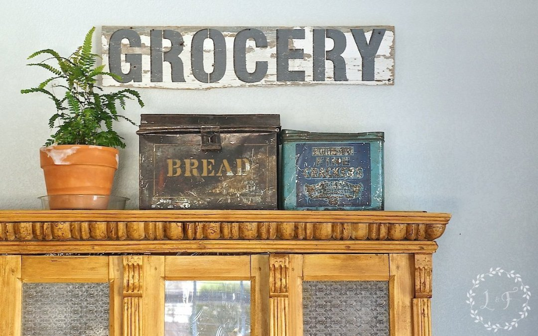 Salvaged Wood Sign using Funky Junk Stencils