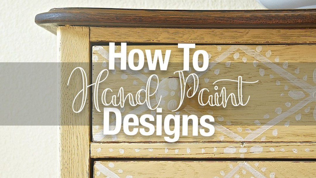 I like to add hand painted details every now and then when a piece needs a  little extra  wow   Stenciling on a design using a pre fab stencil can also  give. 5 Tips for Hand Paiting Designs on Furniture