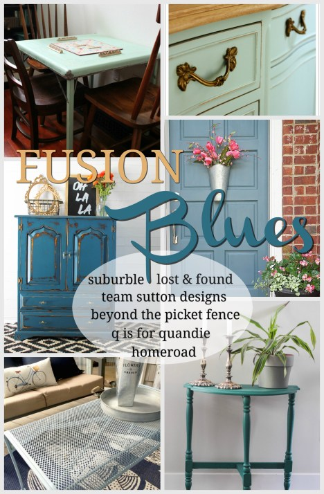 Fusion Blues. Six bloggers share their makeovers using Blues from the Fusion Mineral Paint line