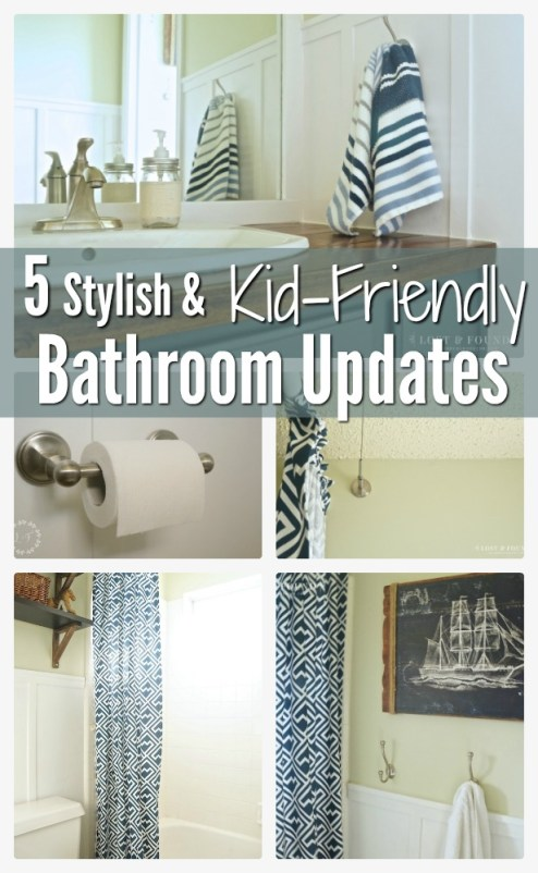 5 kid-friendly bathroom updates