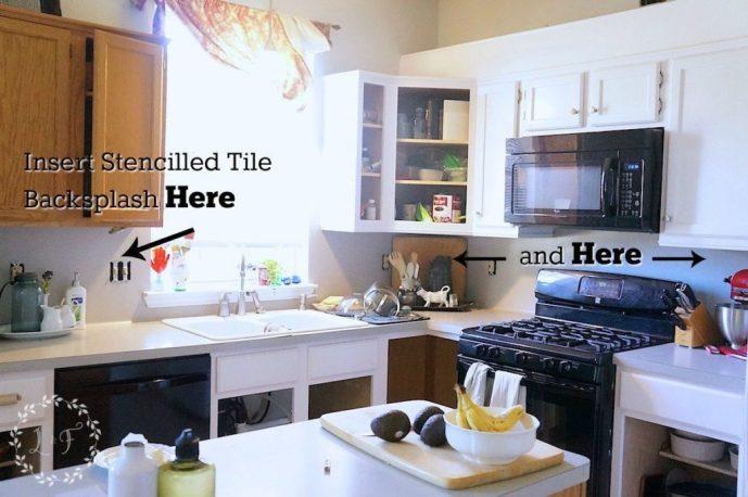 Kitchen Tile Backsplash Change Of Plans Lost Found - Backsplash-installation-plans